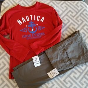 Nautica Matching Sets - NWT NAUTICA BOYS 3 PIECE HOODIE SET SIZE  5/6